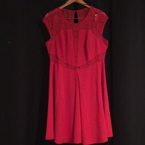 Forever 21 Red Dress with lace detail